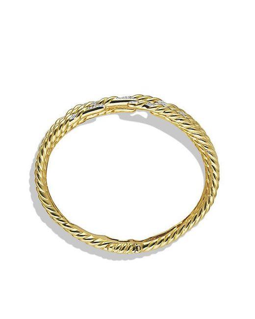 David Yurman | Metallic Willow Five-row Bracelet With Diamonds In 18k Gold | Lyst
