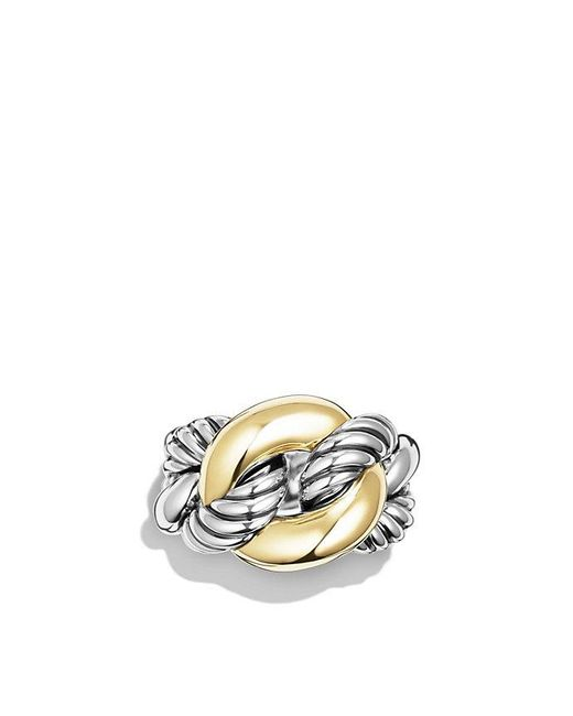 David Yurman - Metallic Belmont Curb Link Ring With 18k Gold - Lyst
