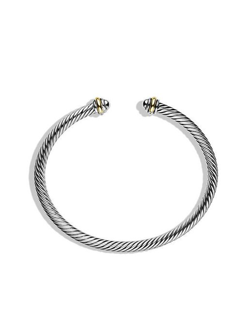 David Yurman | Metallic Cable Classics Bracelet With 18k Gold, 4mm | Lyst