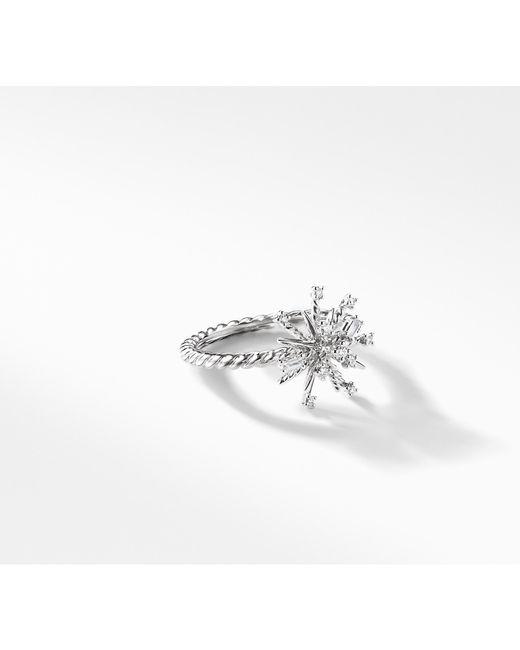 David Yurman - Metallic Supernova Ring With Diamonds In 18k White Gold - Lyst