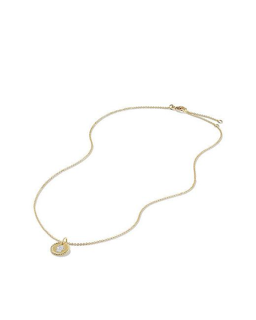 David Yurman | Metallic Petite Pave Hamsa Necklace With Diamonds In 18k Gold | Lyst