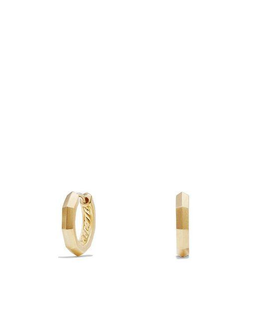 David Yurman - Metallic Stax Faceted Huggie Hoop Earrings In 18k Gold - Lyst