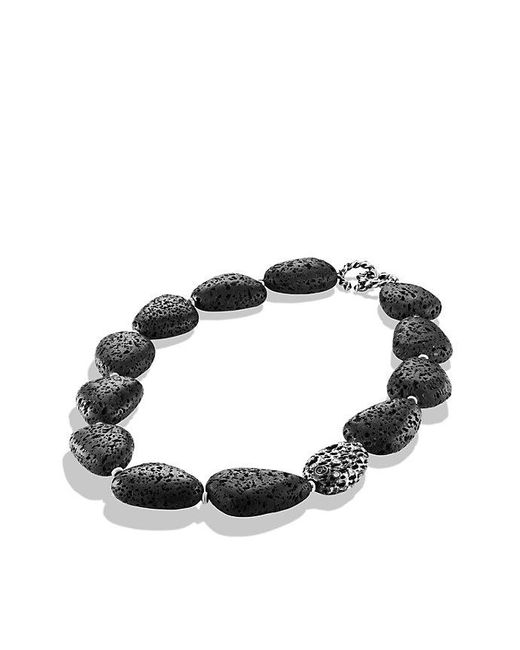 David Yurman | Black Dy Signature Collection Naturals Bead Necklace With Canary Lava And Diamonds | Lyst