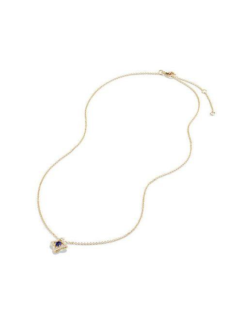 David Yurman | Metallic Venetian Quatrefoil Necklace With Tanzanite And Diamonds In 18k Gold | Lyst