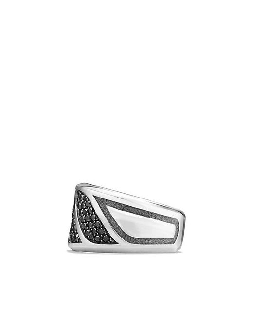 David Yurman - Graphic Cable Band Ring With Black Diamonds for Men - Lyst