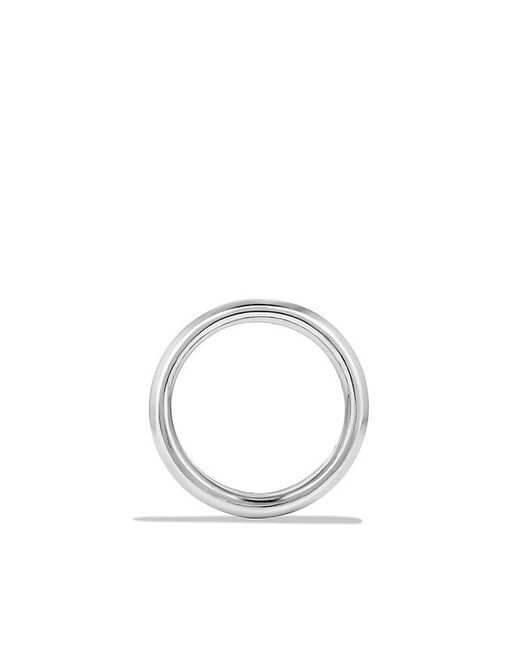 David Yurman | Metallic Cable Classic Band Ring With Forged Carbon Cable for Men | Lyst
