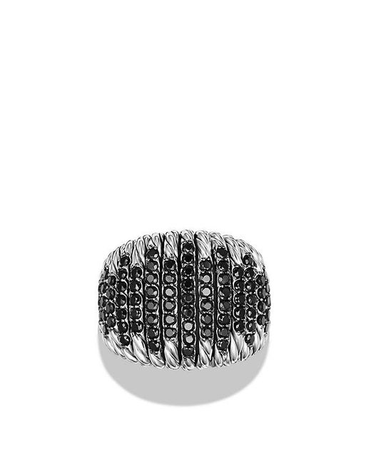 David Yurman | Tempo Ring With Black Spinel | Lyst