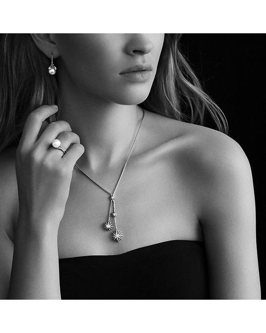 David Yurman - Metallic Starburst Y Necklace With Diamonds - Lyst