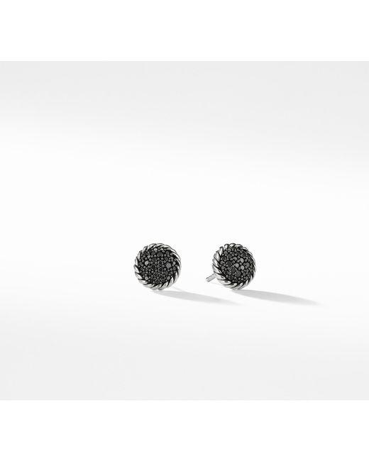 David Yurman - Petite Pave Earrings With Black Diamonds - Lyst