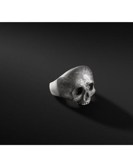 David Yurman - Multicolor Carved Skull Ring With Meteorite for Men - Lyst