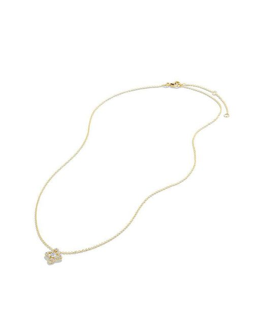 David Yurman | Metallic Venetian Quatrefoil® Necklace With Diamonds In 18k Gold | Lyst