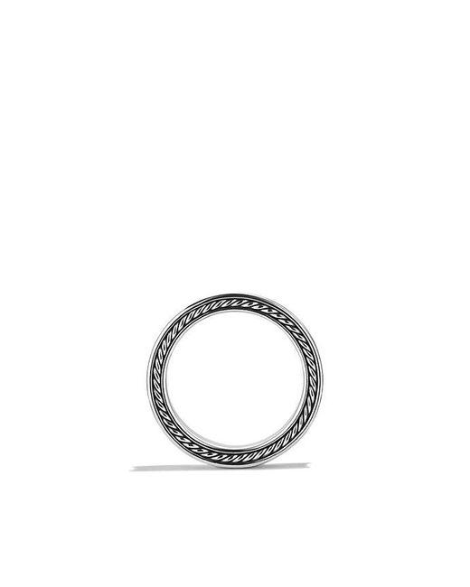 David Yurman   Metallic Streamline Three-row Band Ring With Diamonds for Men   Lyst