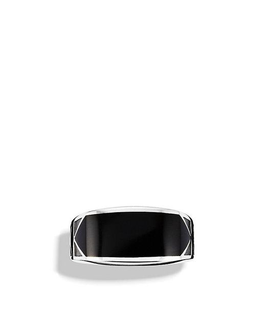 David Yurman - Black Frontier Ring With Nevada Silk Stone for Men - Lyst