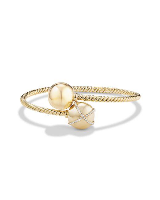 David Yurman - Metallic Solari Bypass Bracelet With Diamonds In 18k Gold - Lyst