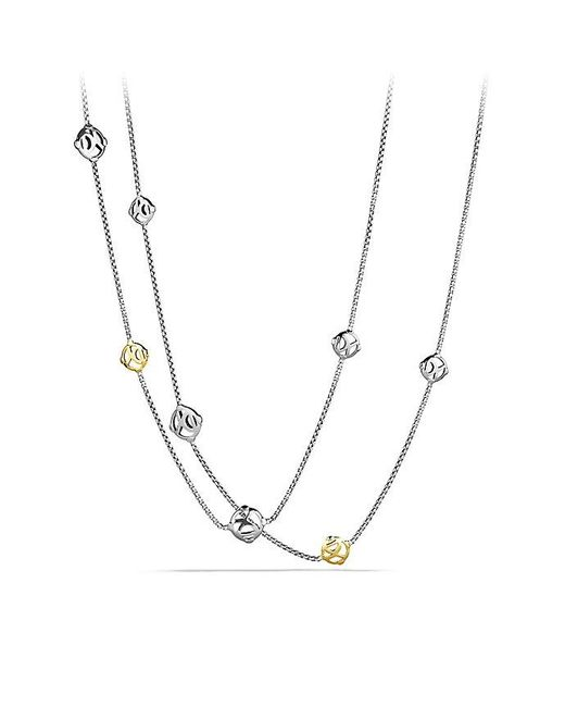 David Yurman | Metallic Dy Logo Chain Necklace With 14k Gold | Lyst