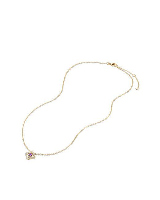 David Yurman | Metallic Venetian Quatrefoil Necklace With Amethyst And Diamonds In 18k Gold | Lyst