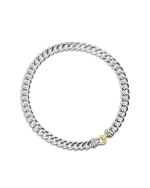 David Yurman | Metallic Cable Buckle Necklace With 14k Gold, 14mm | Lyst