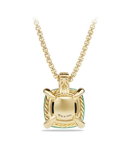 David Yurman | Green Châtelaine® Pendant Necklace With Chrysoprase And Diamonds In 18k Gold, 14mm | Lyst
