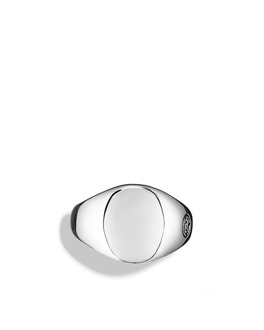 David Yurman | Metallic Streamline Small Oval Signet Ring for Men | Lyst