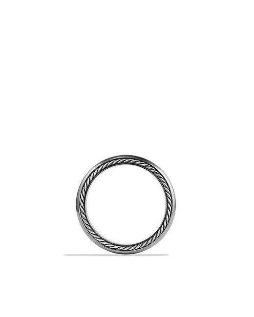 David Yurman | Streamline Narrow Band Ring With Diamonds And Gray Titanium, 6mm for Men | Lyst