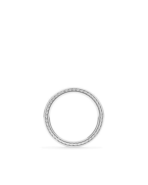 David Yurman | Metallic Dy Eden Wedding Band In Platinum, 2mm | Lyst