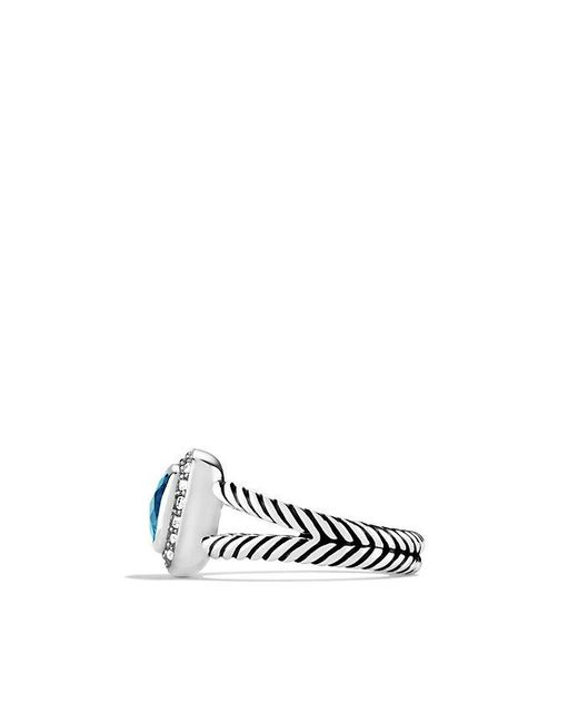 David Yurman | Petite Albion® Ring With Blue Topaz And Diamonds | Lyst