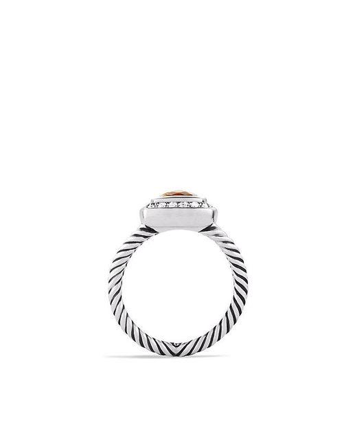 David Yurman | Metallic Petite Albion Ring With Citrine And Diamonds | Lyst