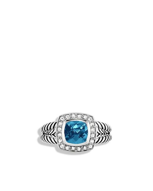 David Yurman | Petite Albion Ring With Hampton Blue Topaz And Diamonds | Lyst