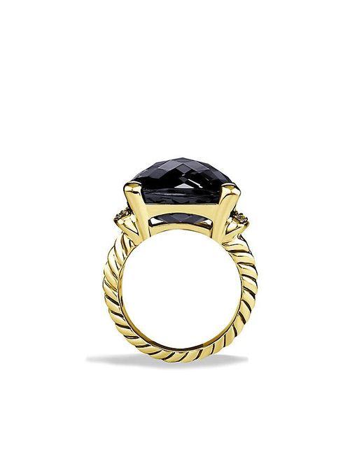 David Yurman | Metallic Wheaton Ring With Black Onyx And Diamonds In 18k Gold | Lyst
