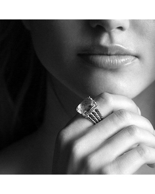 David Yurman | Wheaton Ring With Black Onyx And Diamonds | Lyst