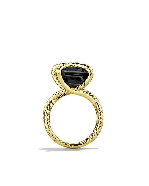 David Yurman | Cable Wrap Ring With Black Onyx And Diamonds In 18k Gold | Lyst