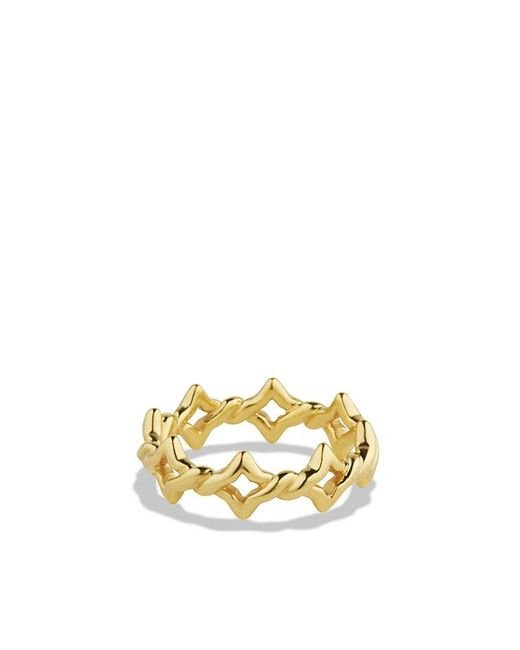 David Yurman | Metallic Venetian Quatrefoil® Stacking Ring In 18k Gold | Lyst