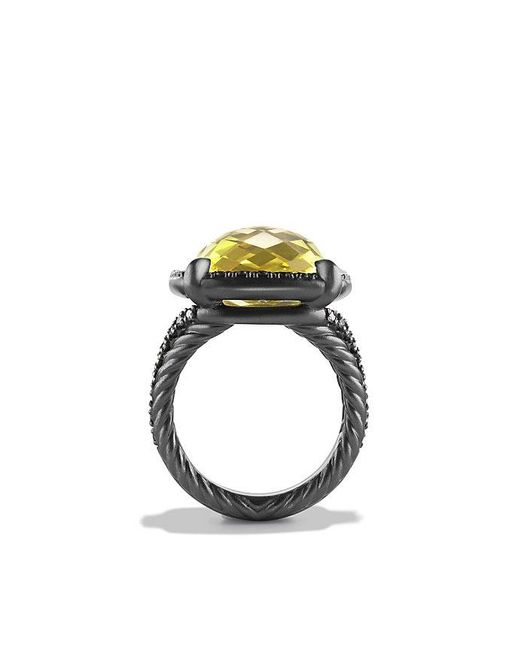 David Yurman | Yellow Châtelaine® Ring With Lemon Citrine And Black Diamonds | Lyst