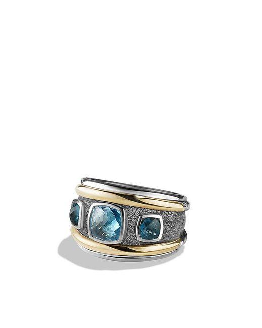 David Yurman | Renaissance Ring With Blue Topaz, Hampton Blue Topaz And 14k Gold | Lyst