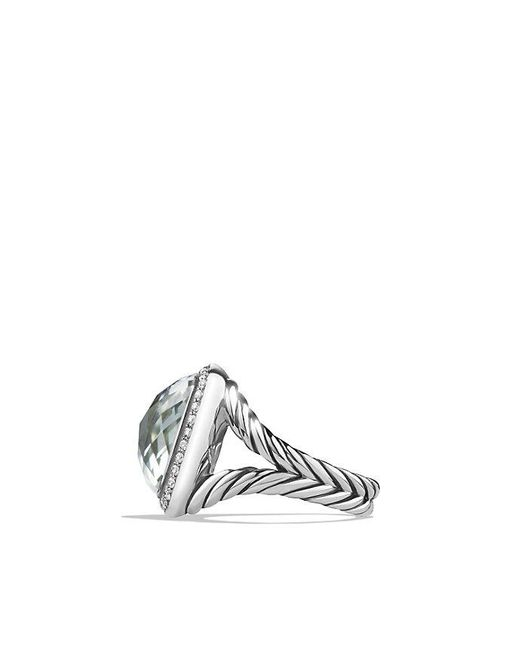 David Yurman | Metallic Albion® Ring With Prasiolite And Diamonds, 14mm | Lyst