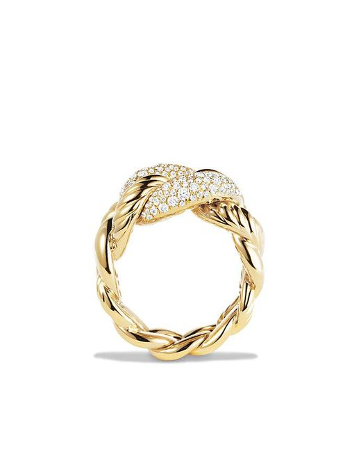 David Yurman | Metallic Belmont Ring With Diamonds In 18k Gold | Lyst