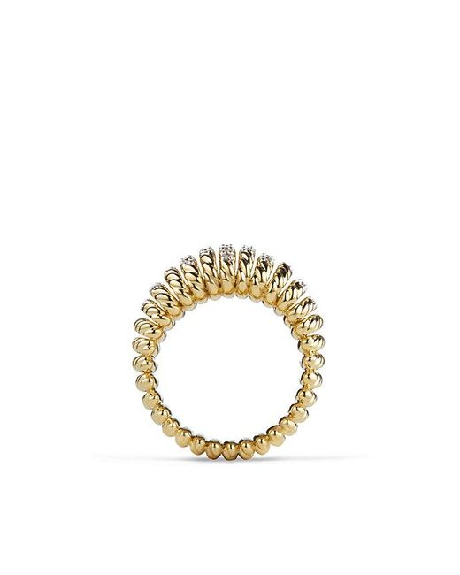 David Yurman | Metallic Tempo Ring With Diamonds In 18k Gold | Lyst