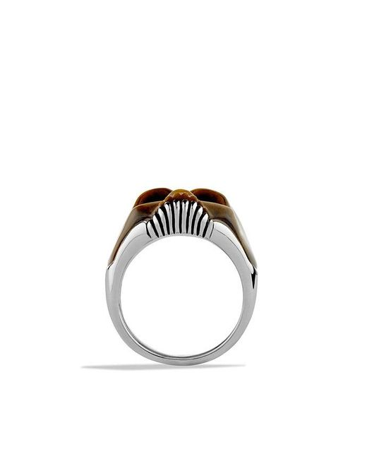 David Yurman | Metallic Carved Skull Ring With Tiger's Eye for Men | Lyst