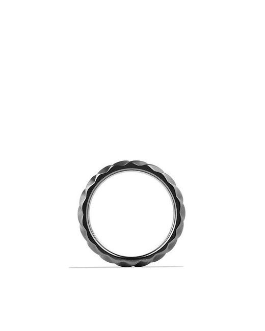 David Yurman | Modern Cable Narrow Band Ring In Black Titanium, 6mm for Men | Lyst