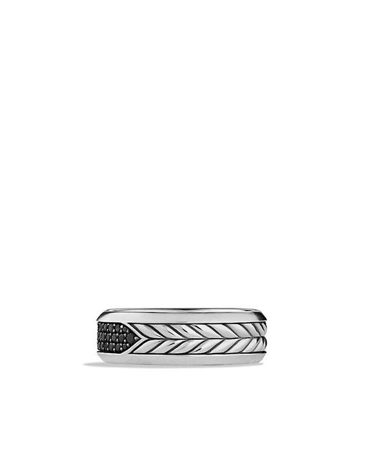 David Yurman | Chevron Pavé Band Ring With Black Diamonds for Men | Lyst