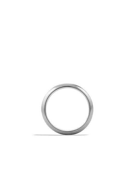 David Yurman | Black Knife-edge Band Ring for Men | Lyst