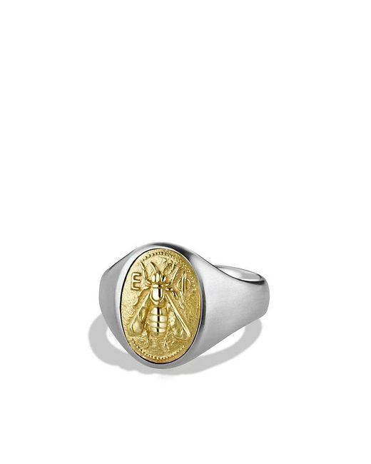 David Yurman | Metallic Petrvs Bee Signet Ring With 18k Gold for Men | Lyst