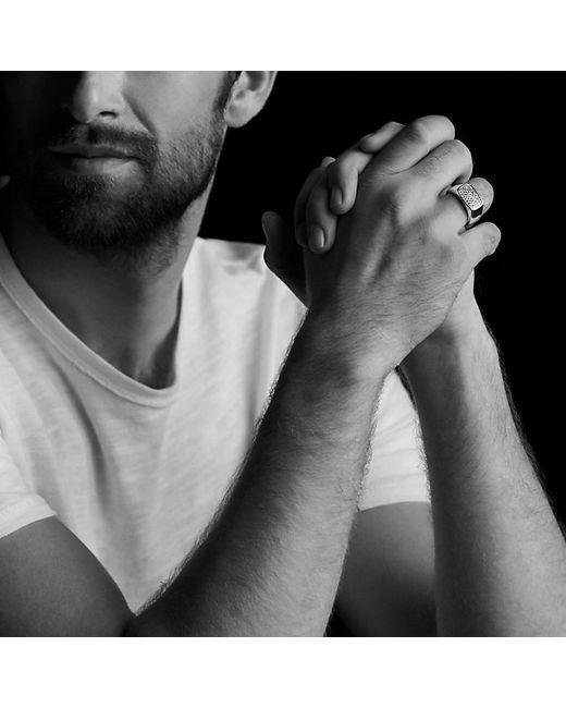David Yurman   Metallic Pavé Signet Ring With Gray Sapphires for Men   Lyst