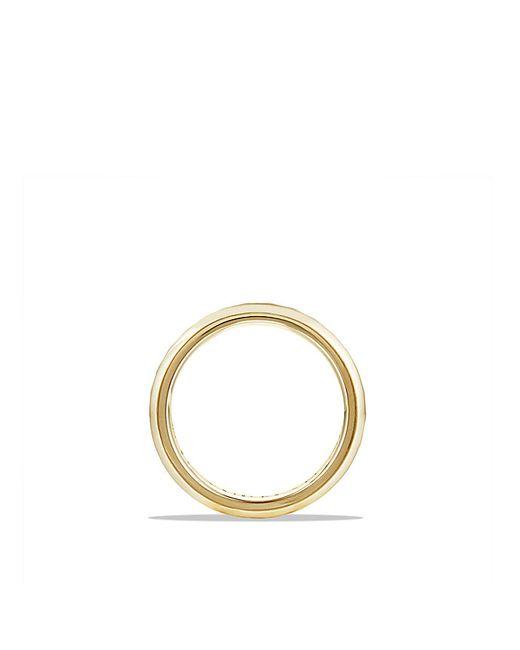 David Yurman   Metallic Cable Classics Beveled Edge Band Ring In 18k Gold, 6mm   Lyst