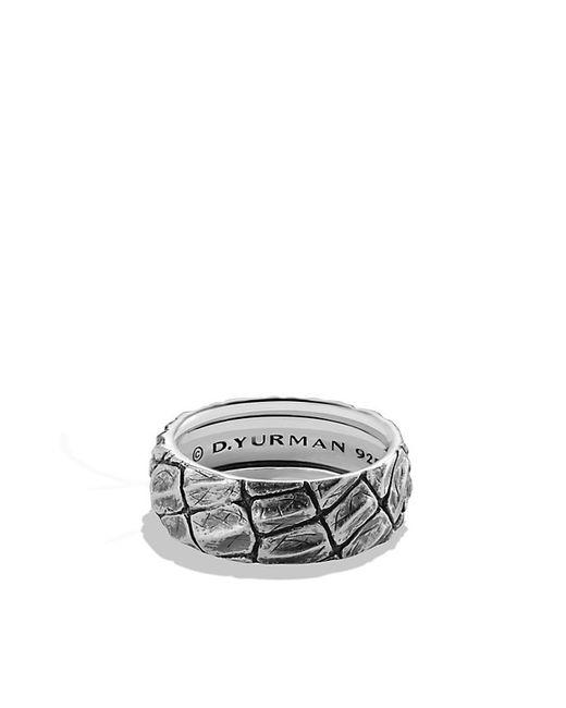 David Yurman   Black Naturals Gator Band Ring for Men   Lyst