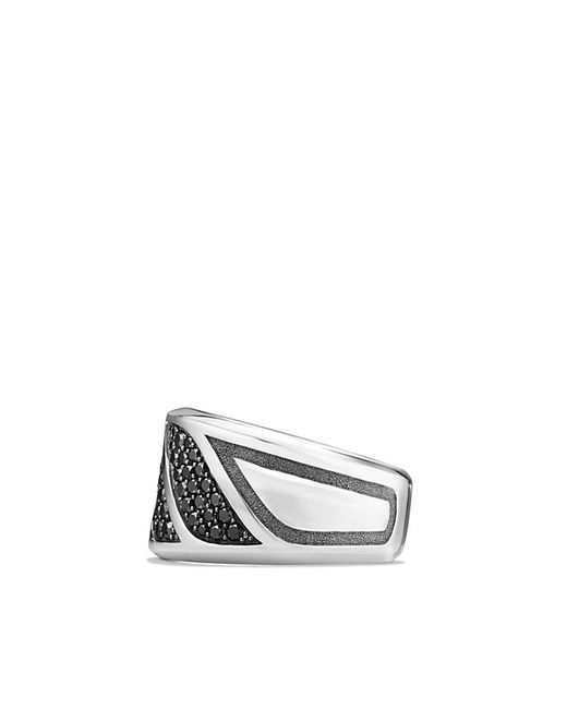 David Yurman | Graphic Cable Band Ring With Black Diamonds for Men | Lyst