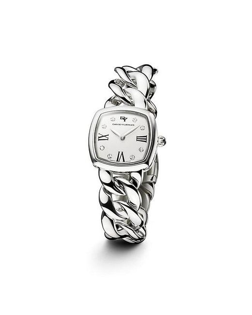 David Yurman | Metallic Albion 23mm Stainless Steel Quartz Watch With Diamonds | Lyst