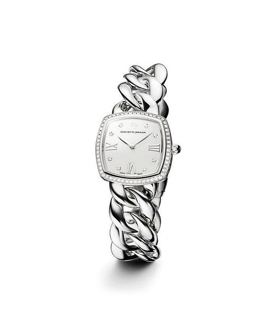 David Yurman | Metallic Albion 27mm Stainless Steel Quartz Watch With Diamonds | Lyst
