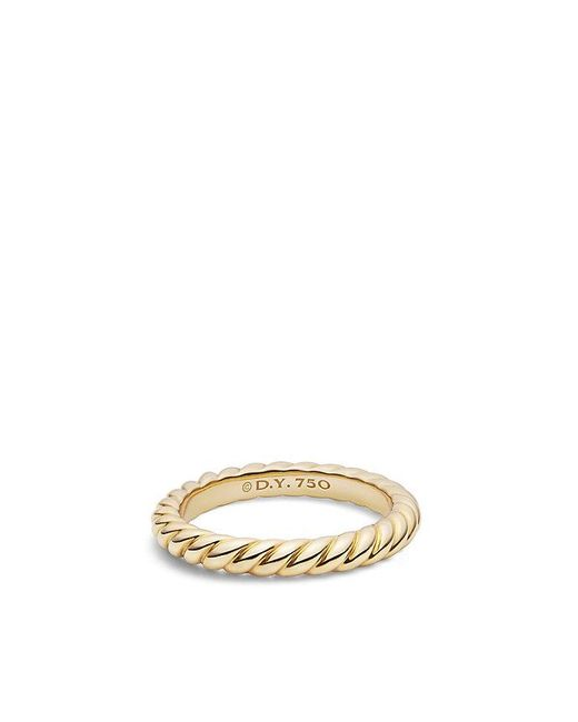 David Yurman | Metallic Dy Unity Cable Wedding Band In 18k Gold, 3mm | Lyst