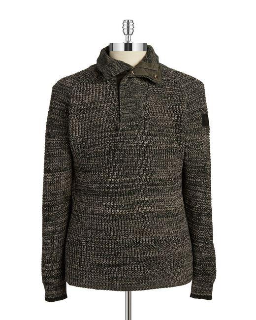 g star raw knit henley sweater in black for men save 66 lyst. Black Bedroom Furniture Sets. Home Design Ideas